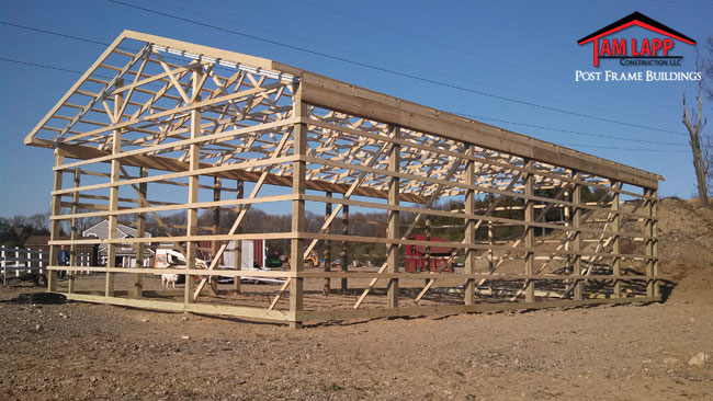 30'W x 50'L x 12'H Agricultural Pole building in Newton New Jersey