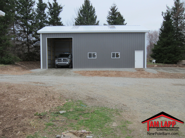 Commercial polebarn building equinunk tam lapp for 30 by 60 pole barn