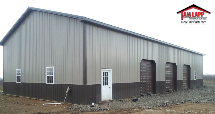 Commercial polebarn building st thomas tam lapp for Pole building pictures