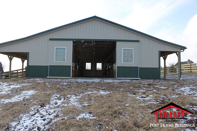 Horse Barn Building In Alexandria Tam Lapp Construction Llc