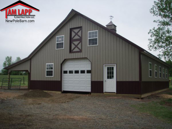 Pole barns with loft homes joy studio design gallery for Pole barn garage homes