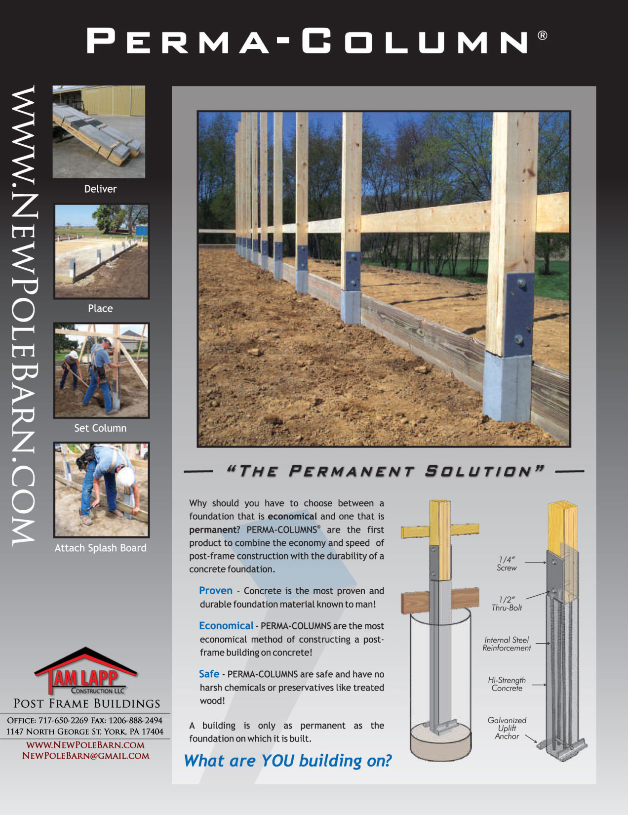 Pole Building Brochures Tam Lapp Construction Llc