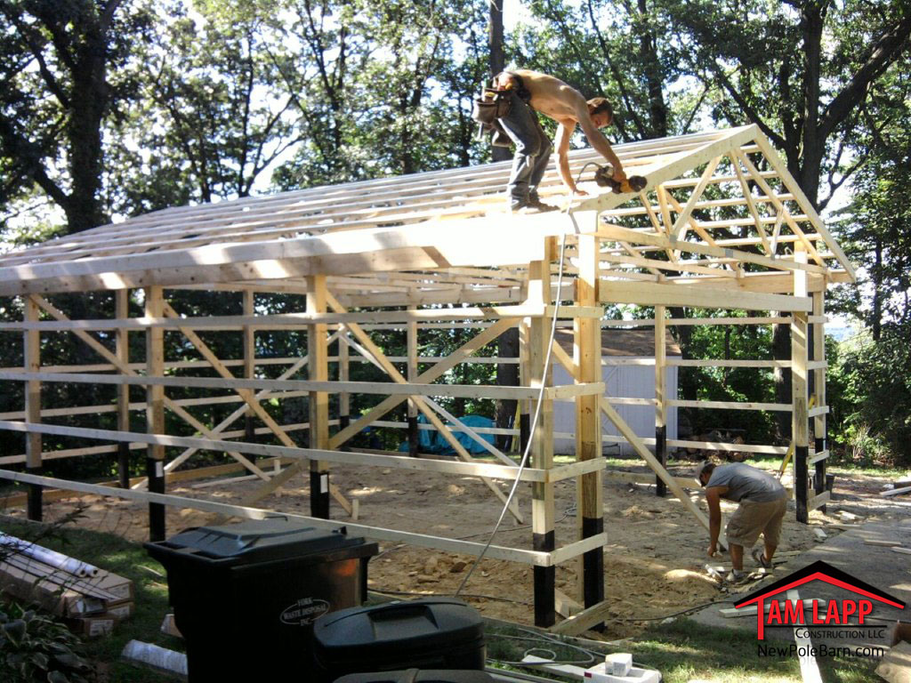 Residential polebarn building york pennsylvania tam lapp for 30x30 pole building
