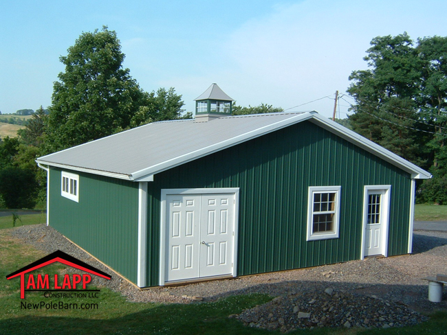Residential polebarn building wellsboro tam lapp for Residential pole barn