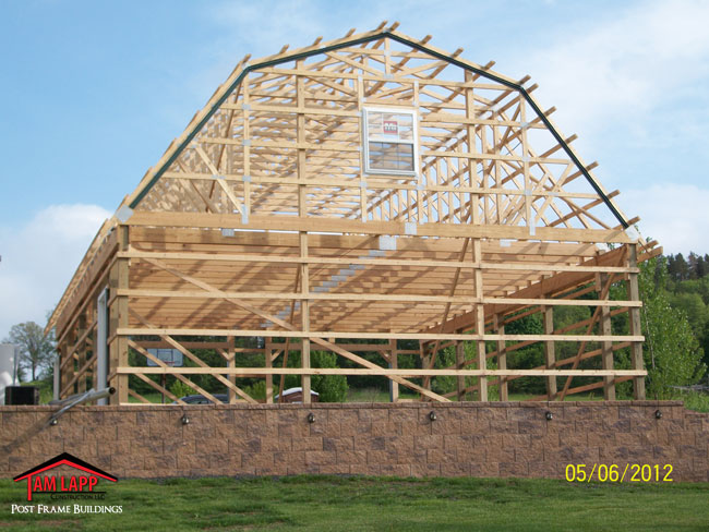 Residential polebarn building ringtown tam lapp for Residential pole barn