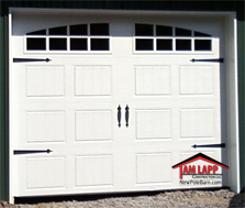 Pole Building Carriage Style Garage Door