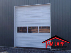 Pole building Commercial Door with Full View Glass Panels