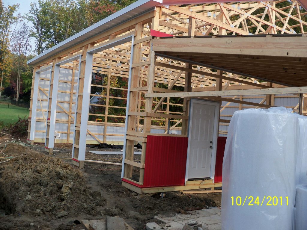 Pole Barn Post Frame Process Tam Lapp Construction Llc