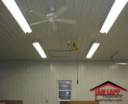 Pole building Interior Liner Panel Finish on Walls