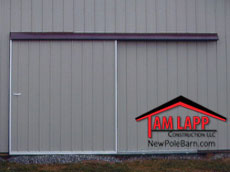 Pole barn One - Way Sliding Door