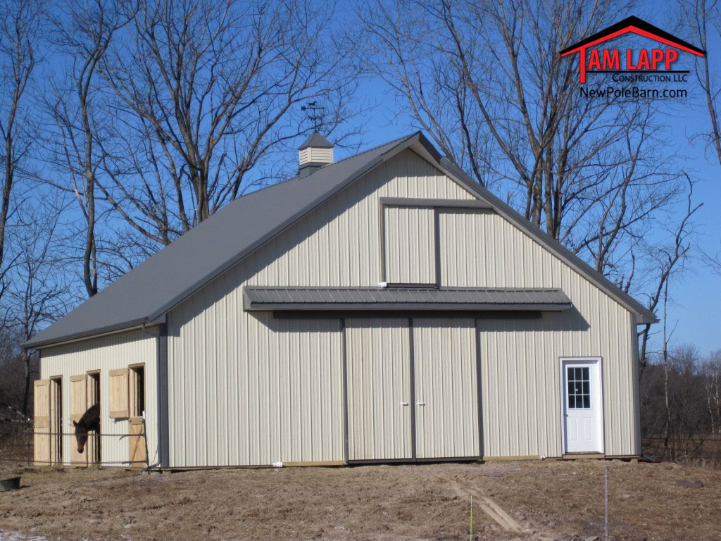 Pole Barn Construction : Flynn horse barn pole building tam lapp