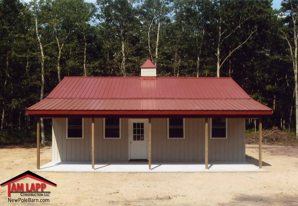 Residential polebarn building mays landing tam lapp for Pole barn home builders