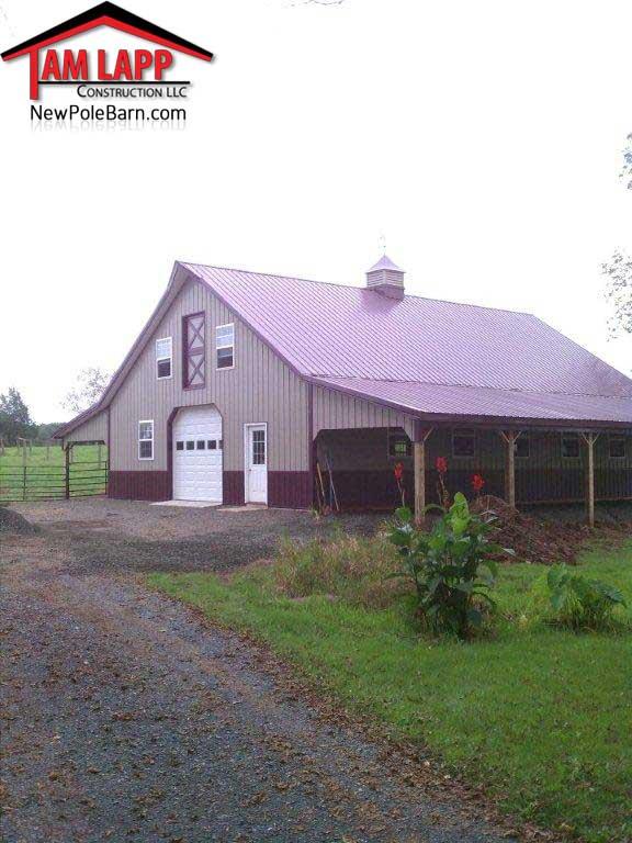 Horse Barn Polebarn Building Gilbertsville Tam Lapp
