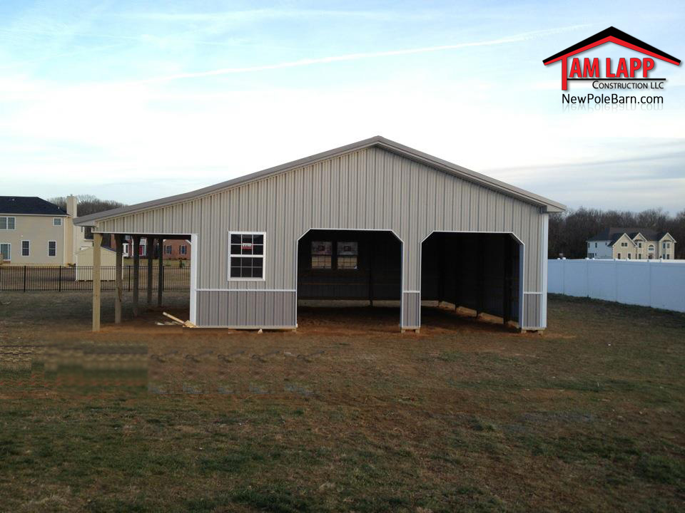 30 W X 32 L X 10 H Residential Polebarn Building In