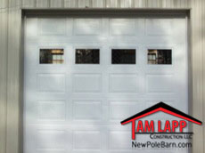 Pole building Residential Raised Panel Garage Door with Windows
