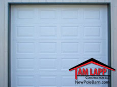 Pole buildings Residential Raised Panel Garage Door