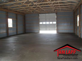 Pole Building Smooth Finish Concrete Floor