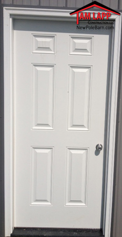 pole building Solid 6 Panel Entry Door