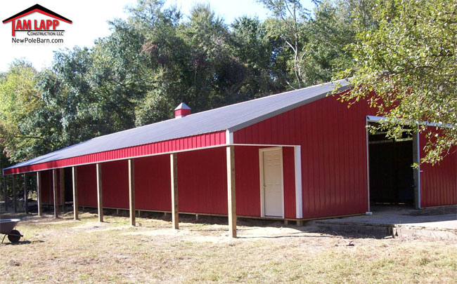 Agricultural Polebarn Building in Freehold New Jersey