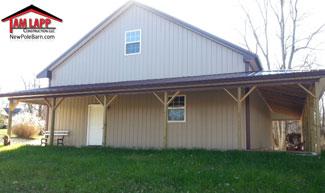 Pole building Lean-to Open Porch