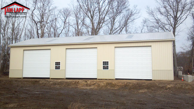 40'W x 80'L x 16'H Commercial Polebarn Building in Yaphank, New York