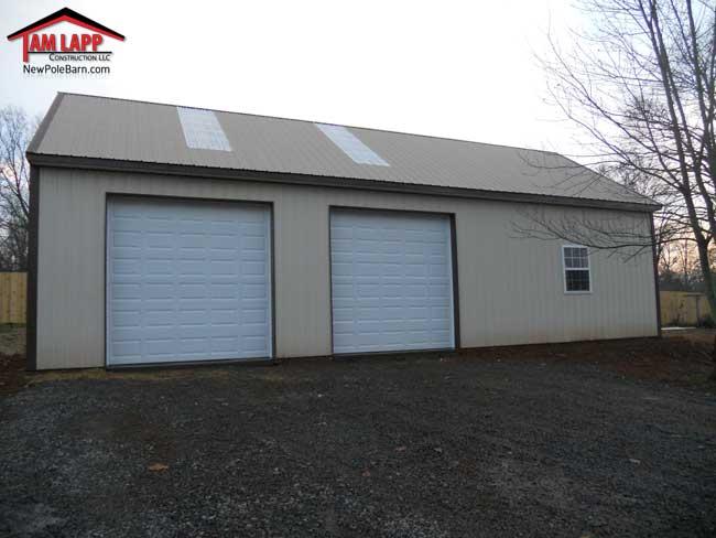 24'W X 50'L X 12'H Residential Polebarn Building Culpeper, Virginia