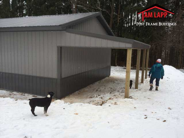Pole Barn Porch Options Tam Lapp Construction Llc