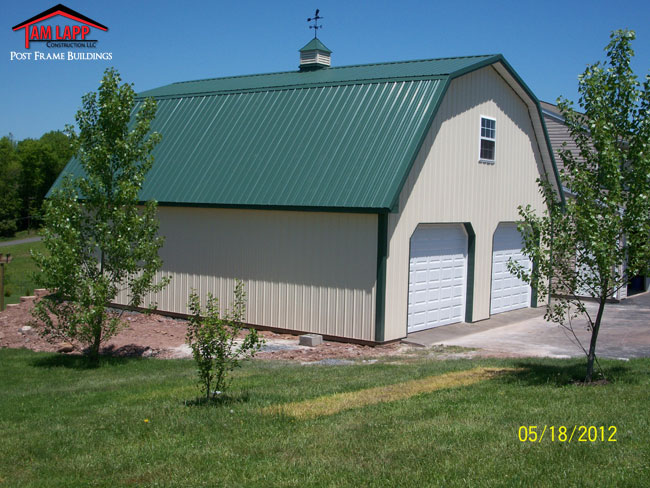 Pole barn attictruss buildings tam lapp construction llc for Gambrel roof metal building