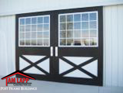 pole building Split Sliding Dutch Door w/Glass