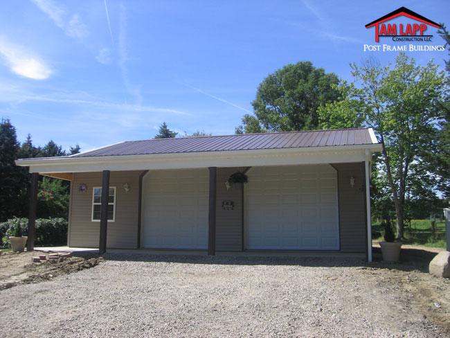 Residential polebarn building garrettsville tam lapp for Residential pole barn homes
