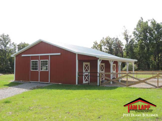 Horse barn building flemington tam lapp construction llc for Horse barn materials