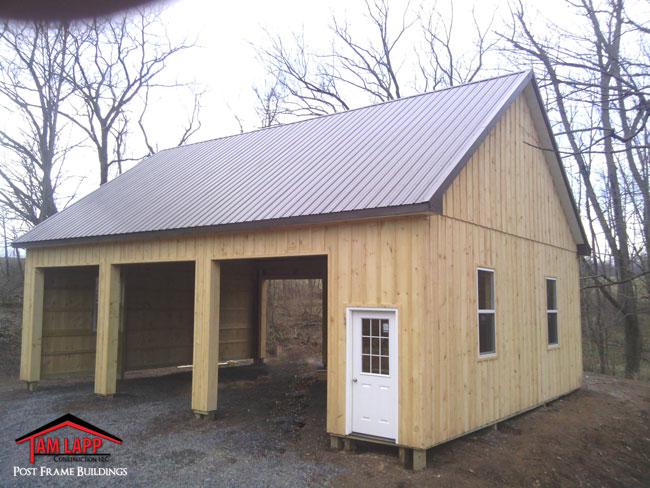 Residential polebarn building quakertown tam lapp for Pole garage pictures