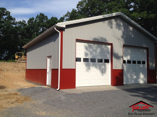 Residential polebarn building strasburg tam lapp for Residential pole barn