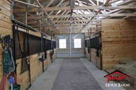 Pole Barn Horse Stalls