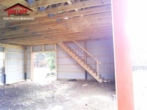 Pole Barn Attictruss Buildings Tam Lapp Construction Llc