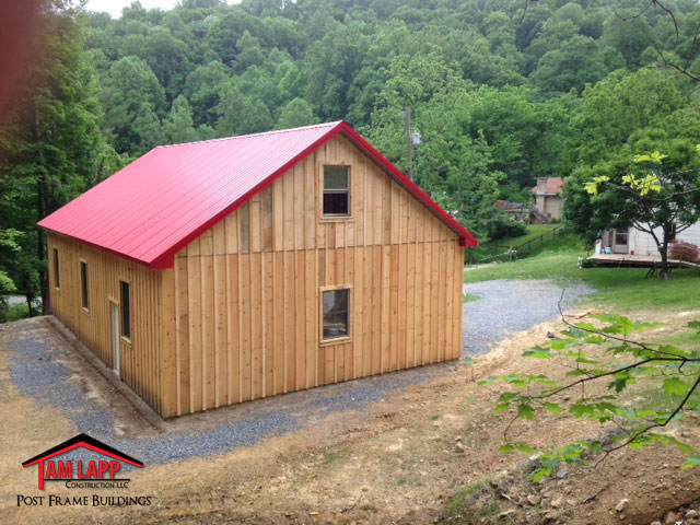 Residential Pole Barn Building Fulks Run Tam Lapp