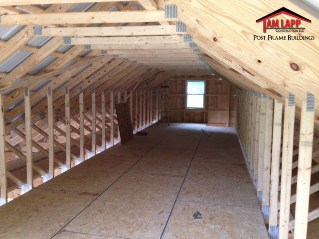Residential Pole Barn Building Fulks Run Tam Lapp