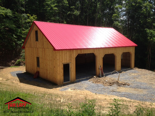 Residential Pole Barn Building Fulks Run Virginia