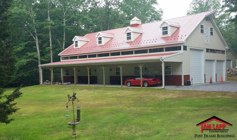 Residential Pole Building Fredericksburg Virginia Tam Lapp