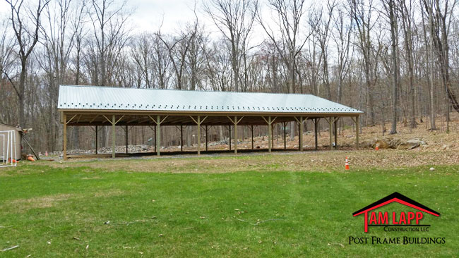 Pavilion Pole Barn in Middleville, New Jersey