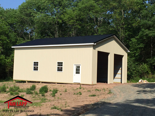 Residential pole building in gilbertsville pennsylvania for Residential pole barn