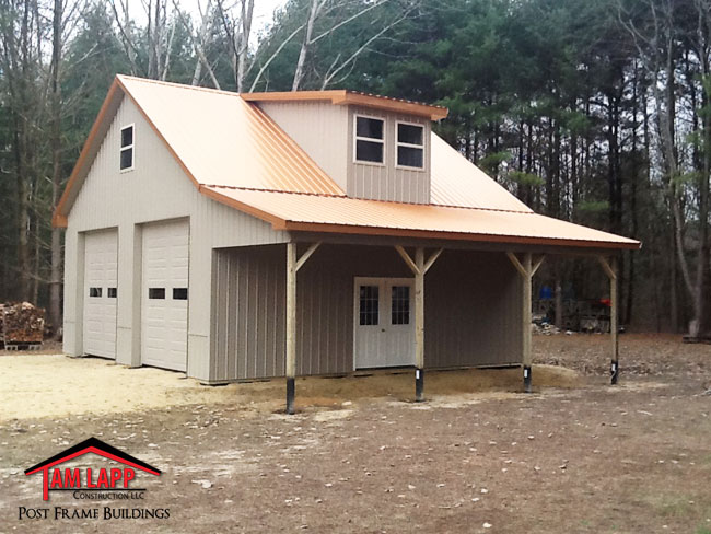 Residential pole building woodbine tam lapp construction for Barns garages