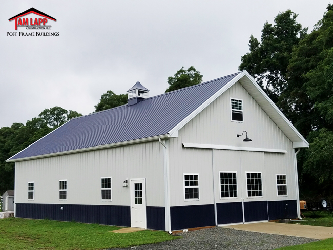 Residential pole barn building in cream ridge tam lapp Residential pole barn homes