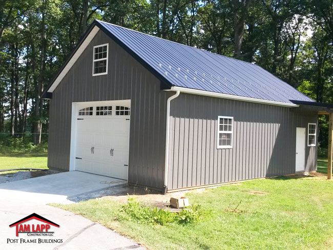 Residential pole building in manchester maryland tam for How to build a small pole barn