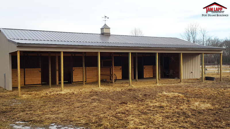 Horse barn pole building in pittsgrove new jersey tam for Horse pole barn