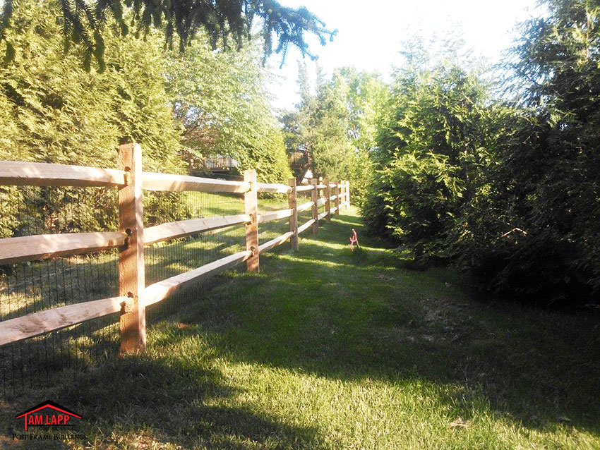 3 Rail Split Rail Fence