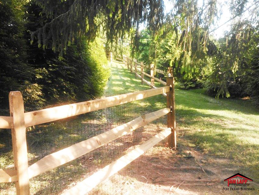 3 Rail Split Rail Fence