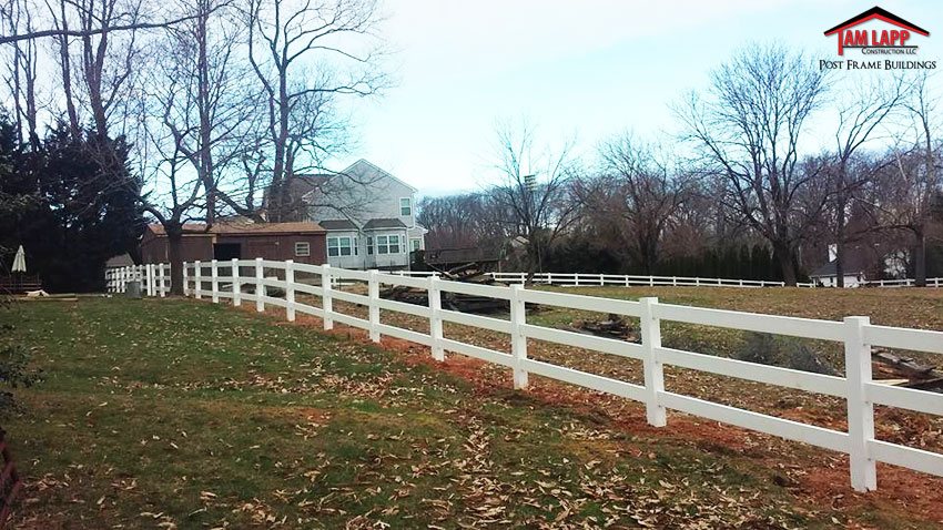 Wood Vinyl Fencing - 3 Rail Split Rail Fence