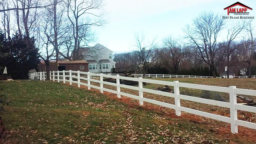 Wood Vinyl Fencing - 3 Rail Split Rail Fence