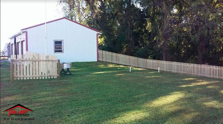 Wood Slat Fencing